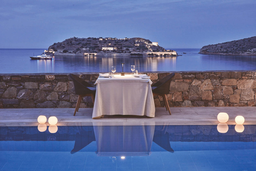 Crete_blue palace_island luxury suite poolside dining