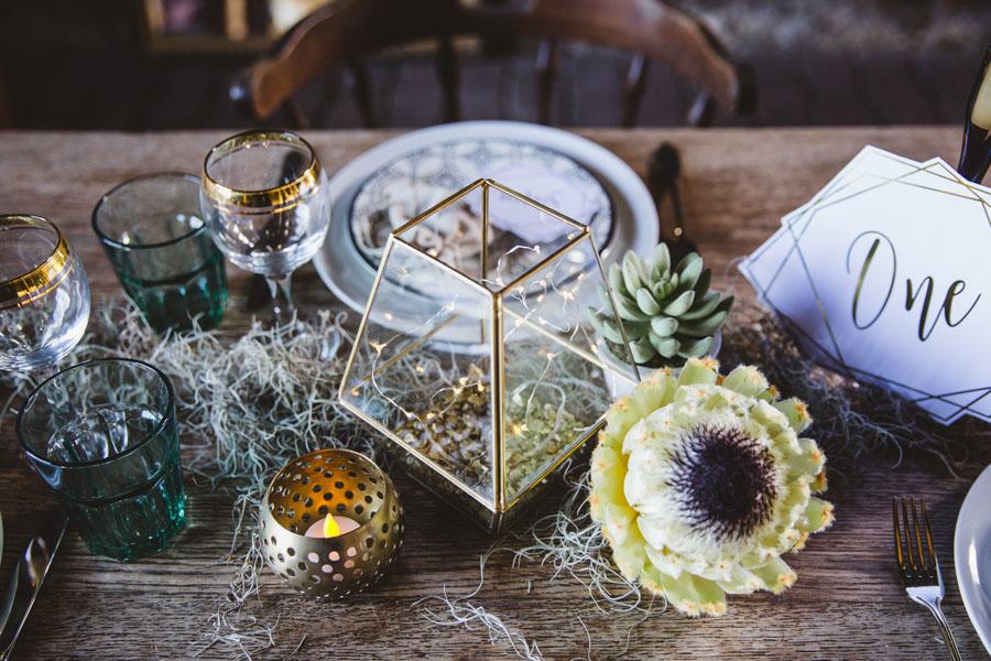 Green, Black, White & Gold: A Geometric Boho Styled Wedding Shoot