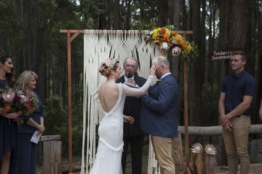 Earthy & Rustic Australian Bush Wedding & Rue De Seine Bride: Tom & Rachel