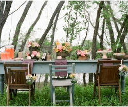An Outdoors Shoot With Pretty Peach, Pink & Yellow: Styled Wedding Inspiration