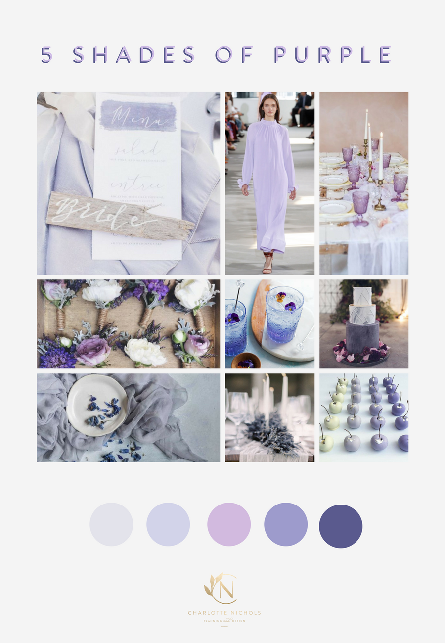 5 Shades of Purple Mood Board