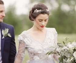 A Beautiful Way! A Lace, Soft Green & Grey Bridal Editorial…