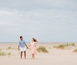 A Gorgeous Beach Hut Engagement Shoot at Wells-next-the-Sea: Kerry & Deepan