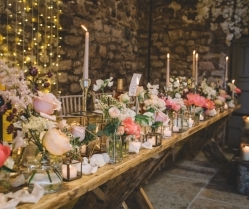 Pretty Barn Glitter Wedding With Gin & Crisp Bar: Sam & Amy