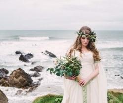 Bridal Editorial on the Cornish Coast With a Beautiful Celtic Wedding Dress!