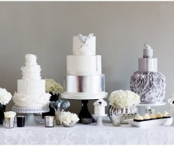 Contemporary, Modern & Trendy: Wedding Cakes by Krishanthi | Grey, Soft Mauve and Metallic