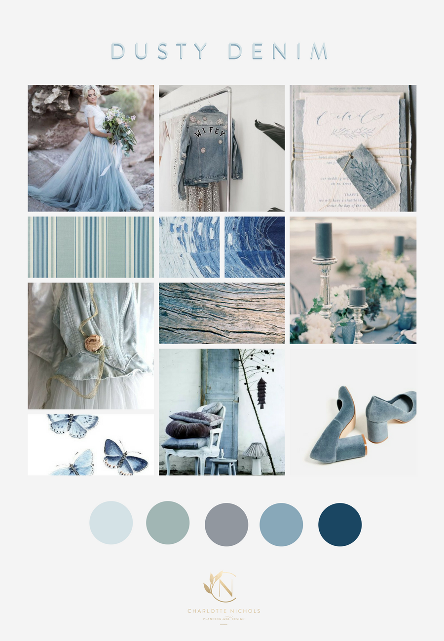 Dusty Denim Moodboard