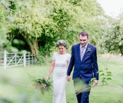 Relaxed Riverside Wedding With Bride Wearing Incredible Wildflowers Crown: Joss & Tim