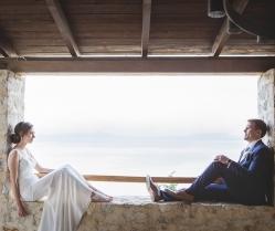Barefoot Bride in Skiathos Destination Wedding with Natural Theme: Lucie & Simon