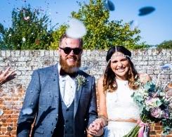 DIY Wildflowers, Walled Gardens & a Two-piece Wedding Dress: Anna & Tom