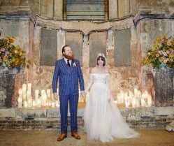 Off The Shoulder Lace Wedding Dress & Alternative Decaying Chapel Venue Wedding: Ella & Daniel