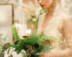 An Eclectic Glamour Bridal Shoot With an Exotic Botanical & Literary Vintage Vibe