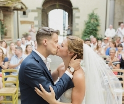 A Rustic, Romantic & Elegant Real Wedding in the Tuscan Hills: Jamie & Chiara