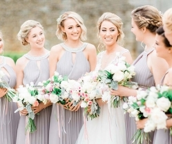Beautifully Romantic, Blush Pink & Grey, Timeless Wedding: Sam & Jennifer