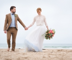 Seashells & Succulents: A Boho Luxe Beach Elopement Shoot!