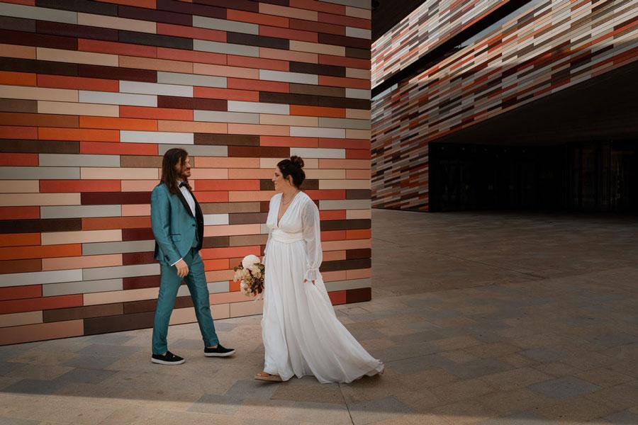 An Urban Wedding Hangar Shoot Inspired by Jackson Pollock